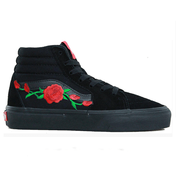 Vans Sk8 High Roses Black