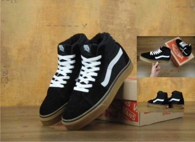 Vans Sk8 High Suede Black/Brown