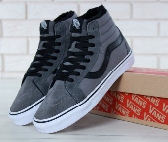 Vans Sk8 High Suede Gray/White