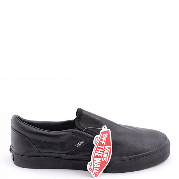 Vans Slip On Low Leather Black