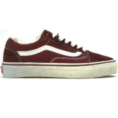 Vans Old Skool Low Suede Bordo/White