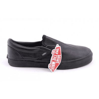 Vans Slip On Low Leather Black
