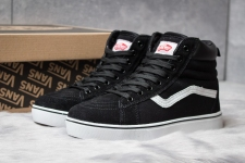 Vans Sk8 High Suede Black/White