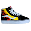 Vans Sk8 High Suede Fire/Black/White