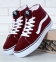 Vans Sk8 High Suede Bordo/White
